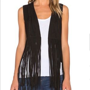 LAMARQUE SONIA SUEDE LEATHER FRINGE VEST Sold Out